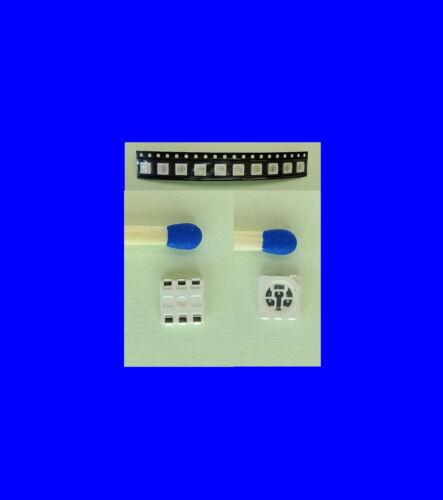 6 unidades elegibles 10 colores RGB LED SMD 5050 red 3 chip Sop