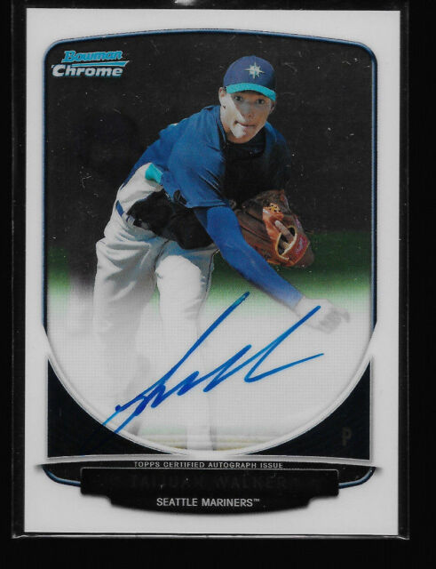 TAIJUAN WALKER 2013 BOWMAN CHROME AUTOGRAPH PROSPECT AUTO ROOKIE RC MARINERS !!!