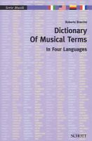 Dictionary Of Musical Terms In Four Languages Italian English German F 049044456