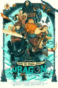 Patrick-Connan-How-To-Train-Your-Dragon-2-Screen-Print-SIGNED-AP