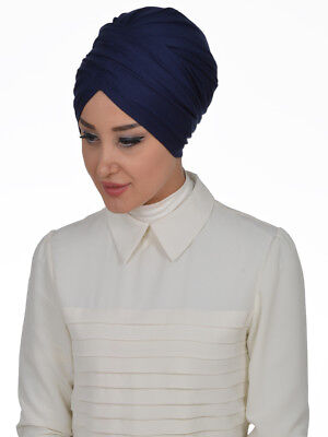 BO-09 Fertig Kopftuch Praktisch Hijab Bone Türban Esarp Sal Tesettür Khimar