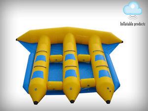 Poisson mouche gonflable Flyfish Flyboat 6 personnes glissent luge eau de bateau banane