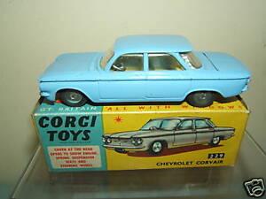 VINTAGE CORGI TOYS MODEL  No.229  CHEVROLET CORVAIR      MIB