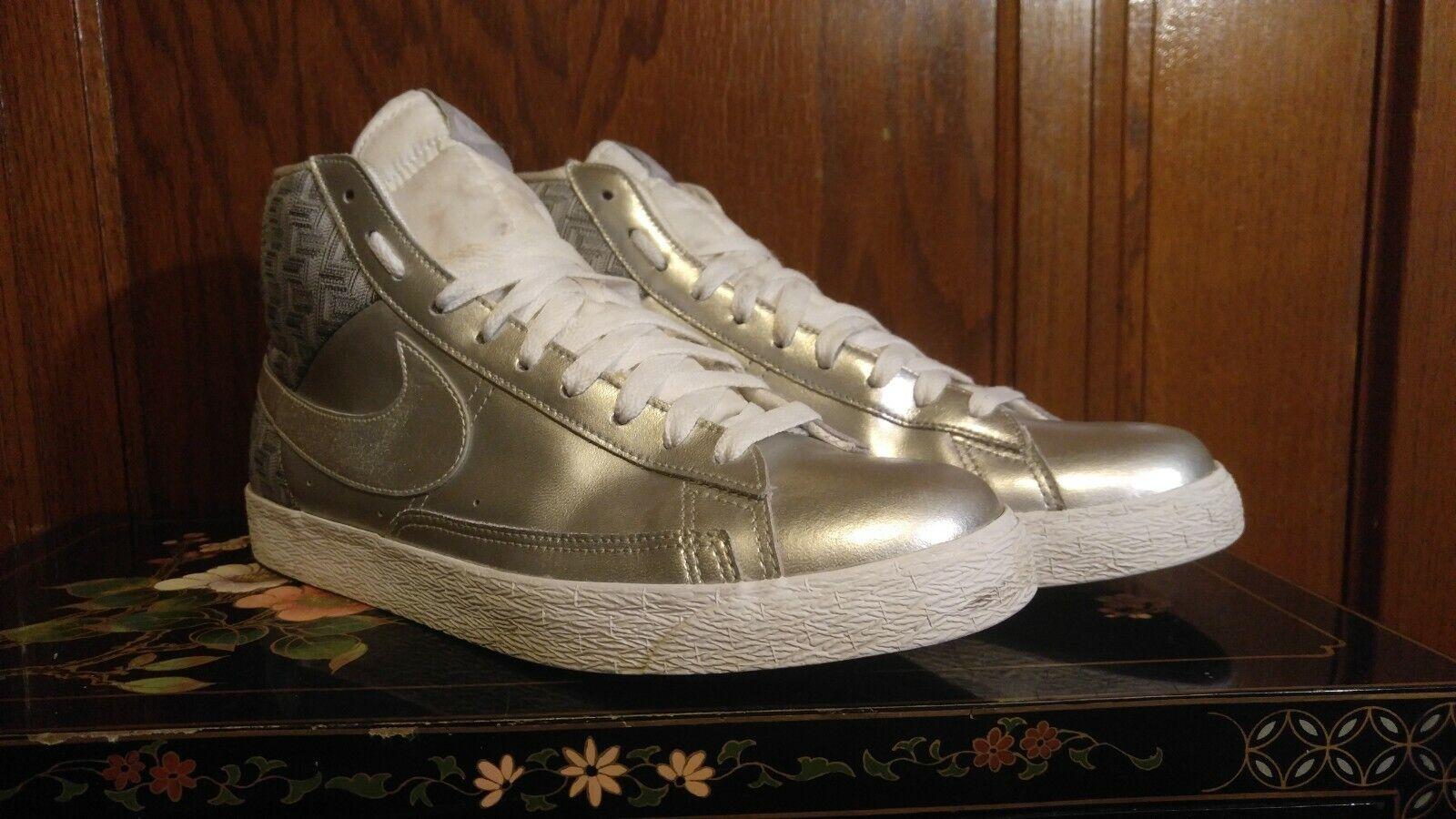 2010 Nike Blazer Silver Foamposite shoes With Box