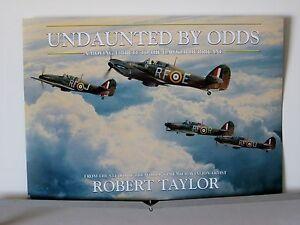 Undaunted-By-Odds-Hawker-Hurricane-RAF-Robert-Taylor-Aviation-Art-Brochure