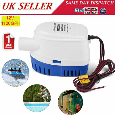 12V 2000GPH Automatic Submersible Boat Bilge Water Pump Free Shipping US Stock