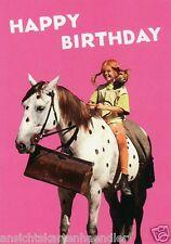 "Postkarte, Geburtstagskarte  ""Pippi Langstrumpf - Happy Birthday"""