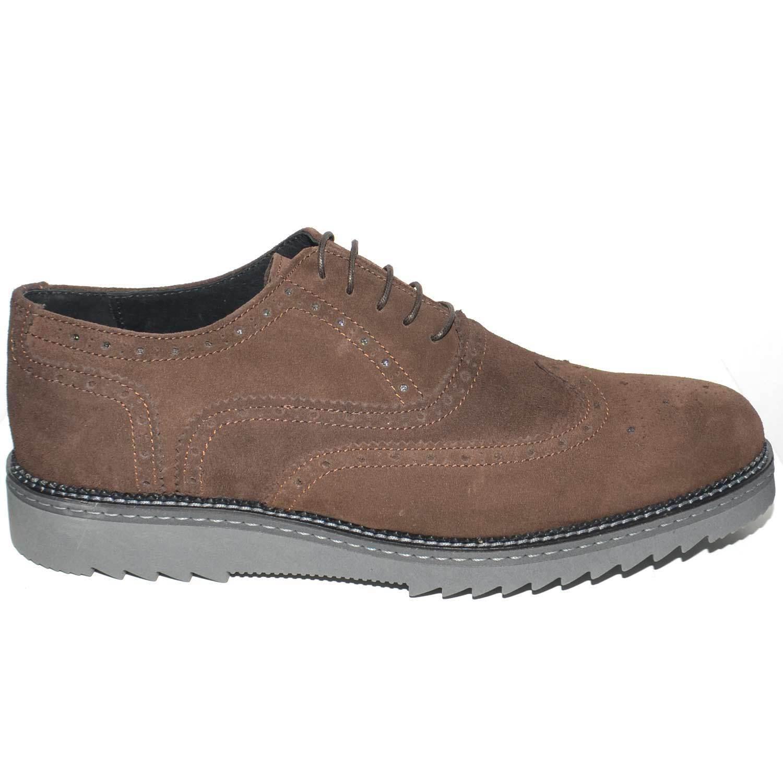 shoes men STRINGATA SCAMOSCIATA TESTA DI Mgold MADE IN ITALY FONDO FURIA GOMMA