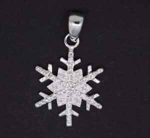 Schneeflocke-Anhaenger-Eiskristall-925-Sterling-Silber-Winter-Damen-Anhaenger