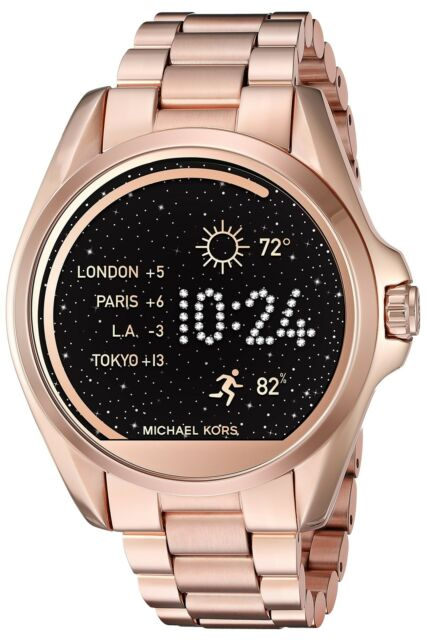 fa9bbebcfdce Michael Kors Access Touch Screen Rose Gold Bradshaw Smartwatch MKT5004