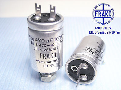 160V  FRAKO EF-Series Ultra Audio Grade! 470uF Electrolytic caps x 50 PIECES