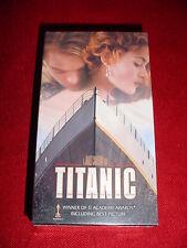 NEW UNOPENED TITANIC THE MOVIE SEALED VHS 2 TAPE SET 11 ACADEMY AWARDS THX