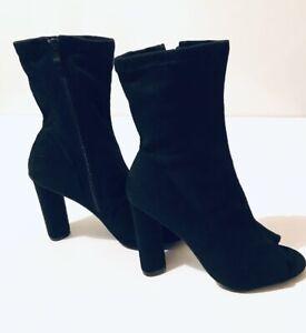 titre d'origine afficher le Bout Ouvert Femme sur Détails Noir Bottines Haut 21 Forever Boxed Talon Chaussures v0m8nNwPyO