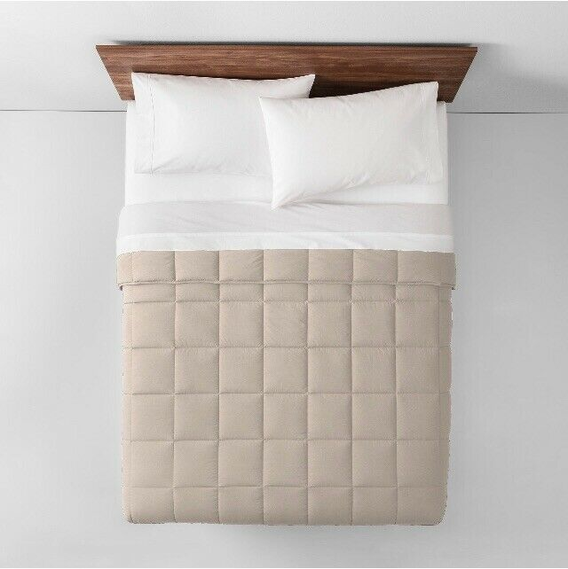 Natural Solid Down Alternative Comforter (Twin XL) - Made By Design