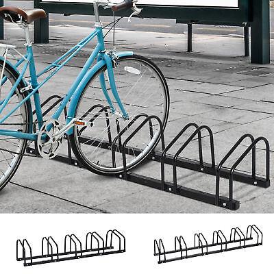 HOMCOM Fahrradständer Aufstellständer Fahrrad Radständer 5 Fahrräder Schwarz