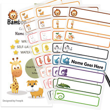 Bambooscout Baby Bottle Labels For Daycareschool Waterproof Write On Animal