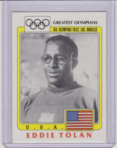 "SUPER RARE 1983 /""BLACK RING/"" OLYMPIC EDDIE TOLAN 100M 200M CARD #41"