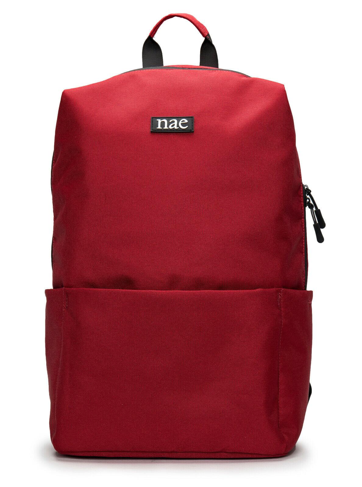 Shoulder vegan backpack on recycled PET resistant with laptop sleeve pocket zip