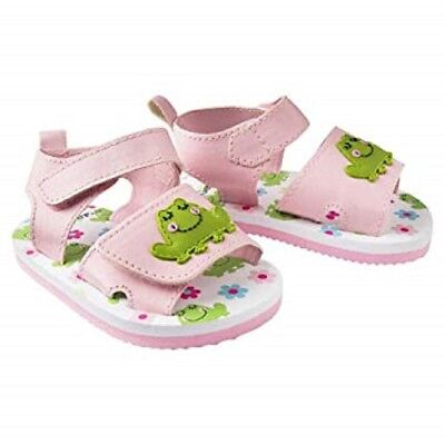 NEW//NIP Size 2 Gerber Baby Girl Soft-Sole Sandals Pink Frog Months 3-6