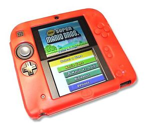 Red-Soft-Silicone-Gel-Cover-Case-for-Nintendo-2DS-Console-UK-Seller