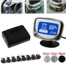 Waterproof 8x Rear Front View Car Parking Sensors + LCD Display Monitor- 3 Color