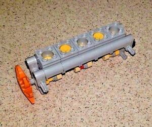 Lego V8 GRAY Engine technic,piston,cylinder,block,motor,car,shaft,crank,fan