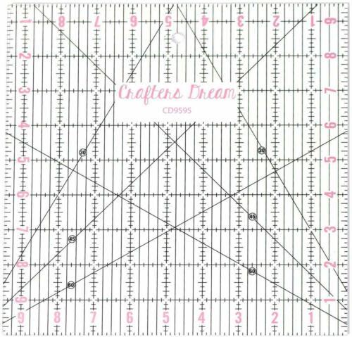 "Crafters rêve Transparent Quilting Patchwork règle modèle 9.5/"" X 9.5/"" CD9595"