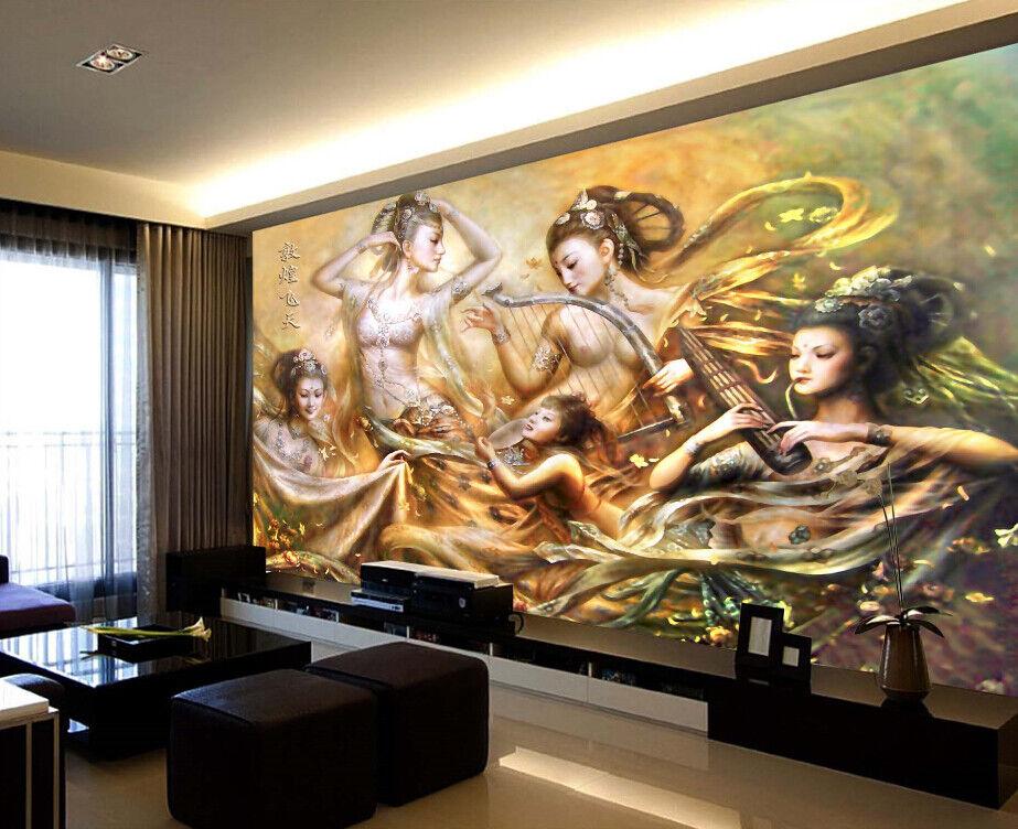 3D Dance Beauty 74 Wall Paper Murals Wall Print Wall Wallpaper Mural AU Lemon