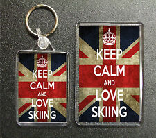 Keep Calm And Love Martin Shaw 2 Sided Keyring And Fridge Magnet Set