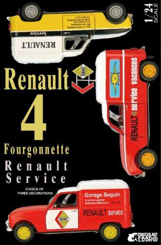 Ebbro 25012-1//24 Renault 4 Fourgonnette Service Car Neu