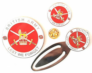British-Army-Full-Set-Commemorative-Enamel-Coin-Badge-And-Bookmark-Gift-Set
