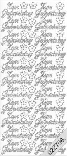 Stickerbogen 401 zum Geburtstag Silber Nr