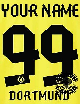 KIT BORUSSIA DORTMUND HOME NAME SET 2013-2014
