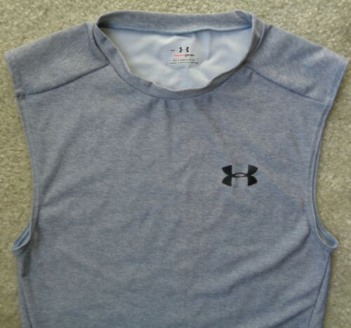 Under Armour Coolswitch Combine Heat Gear Fitted Polo Tank T Shirt Mens M New