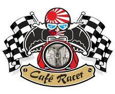 Japanese RISING SUN Flag CAFE RACER Ton Up Club Retro motorbike helmet sticker