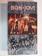 BON JOVI SLIPPERY WHEN WET THE VIDEOS VHS VIDEO CASSETTE W/LIVE MTV AWARDS OOP