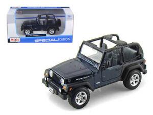 Maisto Jeep Wrangler Rubicon Diecast Model Toy Car Blue 1 27
