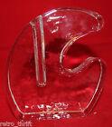 Mid century Modern Pukeberg Walther Design Solifleur Vase Art Glass Clear Rare