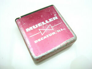 Details about Vintage Mueller Water Products Pocket Tape Measure  Advertising Decatur Illinois