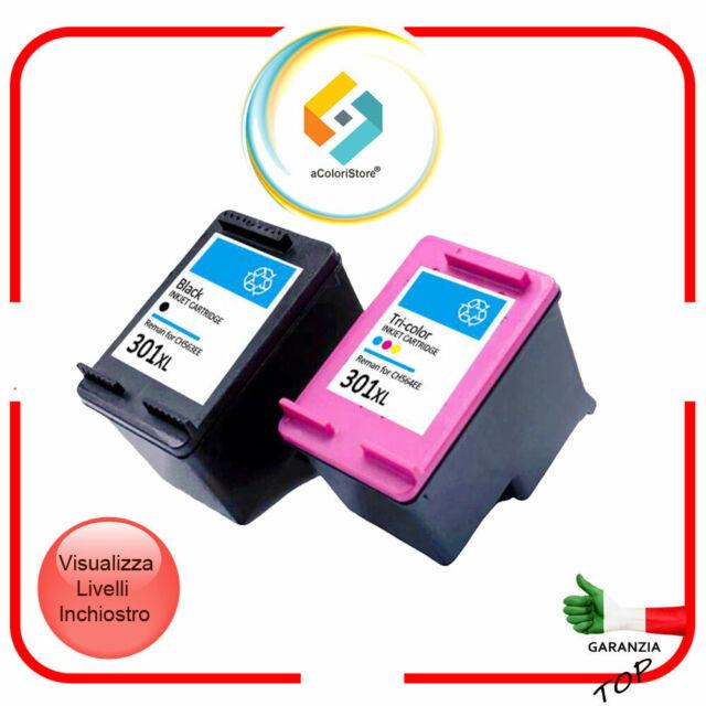 2 Cartucce per HP 301XL Nero e Colore DeskJet 2544 1000 3000 1050 2050 3055 comp