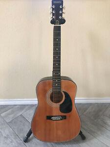 Rare Vintage Brooks GA202 Acoustic Dreadnought Guitar