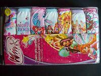 Winx Club Underwear Underpants 7 Pair Panty Pk Girls Sz 2 4 6 8 Magic Rocks Nip