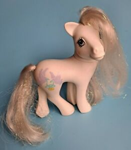 My Little Pony MLP G1 Vintage 1989 Bridal Beauty White Wedding Bride Pony Tinsel