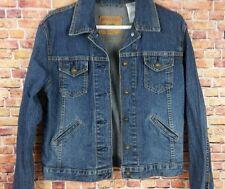 Levi Strauss Signature Denim Jacket Blue Jean Womens Trucker Stretch Small  C200