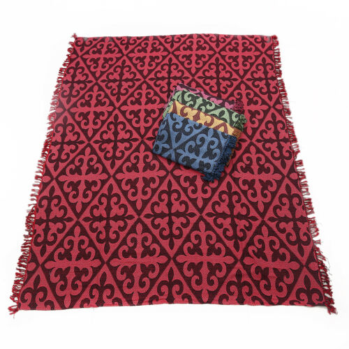 Table Cloth Camping Blanket 180x Picnic 1pce Red Chevron Design Throw Rug