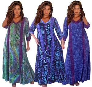 Bohemian Maxi Dress-Oversize Caftan-Deep Pockets- Quality Batik-Plus ...