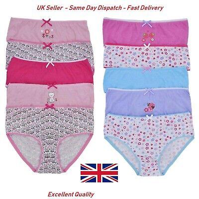 5 Pack Tom Franks Girls Briefs Underwear