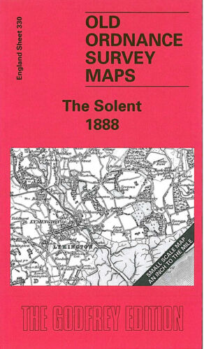 OLD ORDNANCE SURVEY MAP THE SOLENT 1888 BEAULIEU LYMINGTON FAWLEY ISLE OF WIGHT