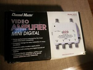 Channel Master CM3414 1-Port Distribution Amplifier for Cable and Antenna Signal
