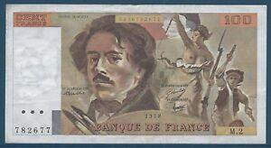 100-FRANCS-DELACROIX-1978-M-2-Billet-de-banque-francais-TTB